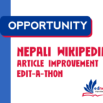 Nepali Wikipedia Article Improvement Editathon