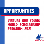Virtual-One-Young-World-Scholarship-Program-2021